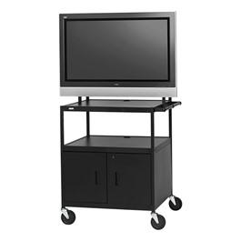 Flat Panel Multimedia Cart w/ Cabinet