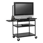 Extra-Wide Flat Panel Multimedia Cart w/ Laptop Shelf