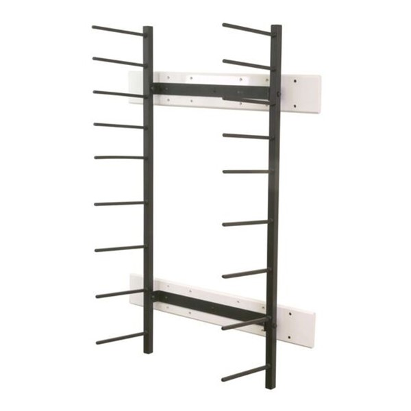"""Wall-Mount Blueprint Storage Rack - Four 6"""" H Openings & Four 4"""" H Openings"""