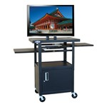 Adjustable Steel Flat Panel TV Cart