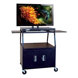 Flat Panel Cart w/ Cabinet