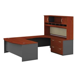 Series C U-Shaped Workstation w/ Hutch & Lateral File - Right
