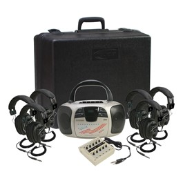 Spirit CD/Cassette Listening Center - Six 3068AV Headphones