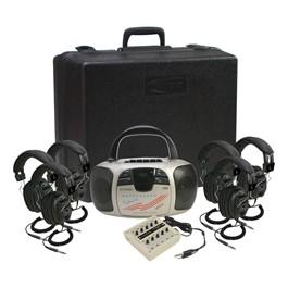Spirit CD/Cassette Listening Center - Six 3068AV Headphones