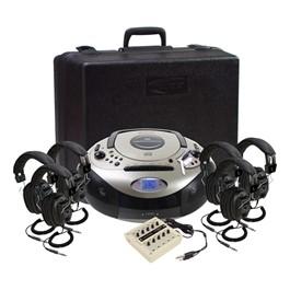 Spirit SD CD/Cassette Listening Center w/ Six 3068AV Headphones
