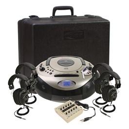 Spirit SD CD/Cassette Listening Center w/ Four 3068AV Headphones