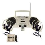 Music Maker CD/Cassette Player w/ Headphones & Jack Box