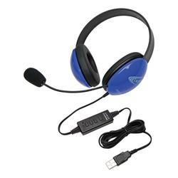 Colorful Preschool Headphones w/ USB Plug - Blue