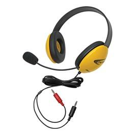 Colorful Preschool Headphones w/ Mic - Yellow