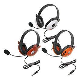 Animal Preschool Headphones w/ Mobile-Ready Plug