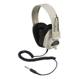 2924AV Mono Headphones w/ Attached Cord & Volume Control