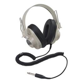 2924AV Mono Headphones w/ Attached Coiled Cord