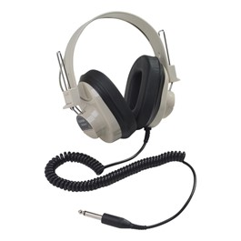 2924AV Mono Headphones w/ Attached Coiled Cord