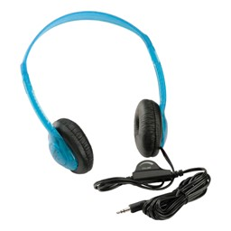 3060AV Multimedia Stereo Headphones w/ Volume Control - Blueberry