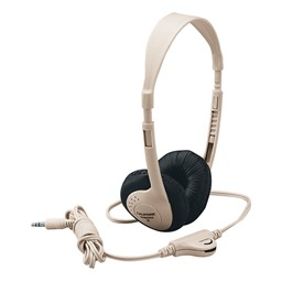 3060AV Multimedia Stereo Headphones w/ Volume Control - Beige