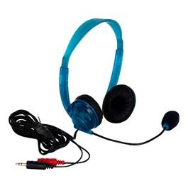 3064AV Headphones with Boom Microphone - Blue