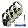 Four-Station Wireless Headphones Listening Center