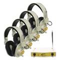 Four-Station Wireless Headphones Listening Center