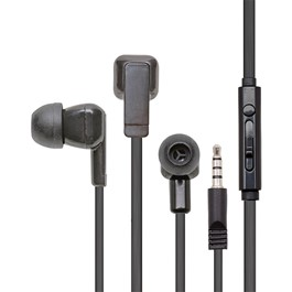 Earbud Headphones w/ Microphone & Mobile-Ready Plug