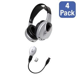 Wireless USB Headphone Listening Center