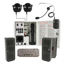 Infrared Classroom Audio System w/ Four Speakers