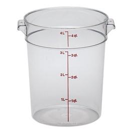Camwear Polycarbonate Round (4 Qt. Capacity)