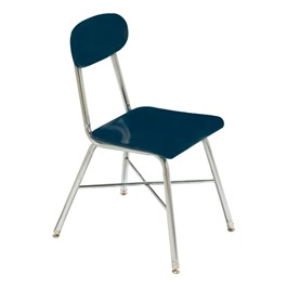 1100 Series Solid Plastic School Chair - Navy