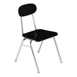 1200 Series Solid Plastic School Chair - Black