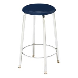 "7000 Series Solid Plastic Stool - Fixed Height (24"" H)"