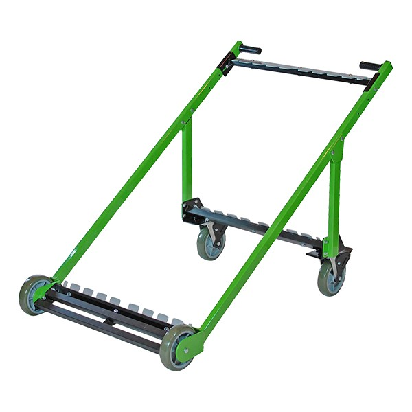 Edge-Stacking Adjustable Round Folding Table Truck (10 Table Capacity)