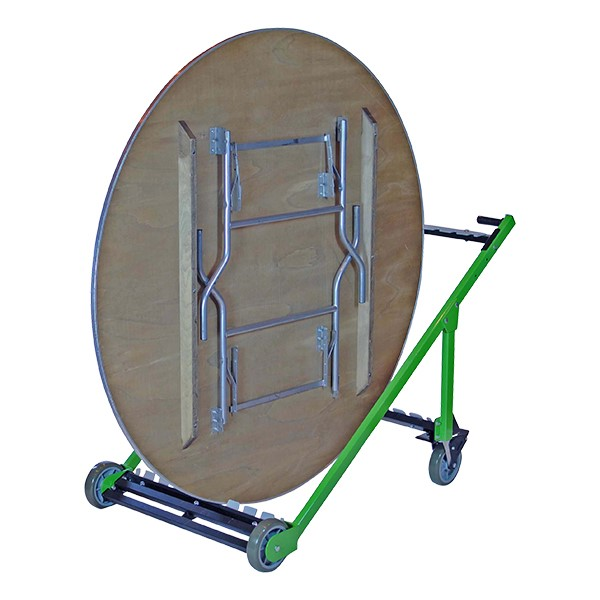 Edge-Stacking Adjustable Round Folding Table Truck (10 Table Capacity) - Table sold separately