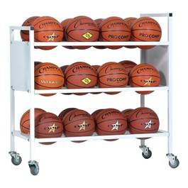 Double-Wide Ball Cart  - Holds 24 Basketballs