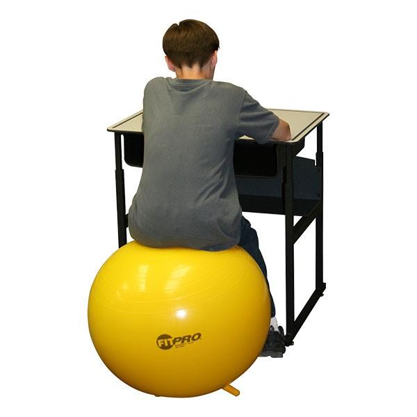 "FitPro Classroom Balance Ball Chair w/ Legs (25 1/2"" Diameter)"