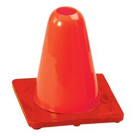 High Visibility Orange Flexible Vinyl Cone