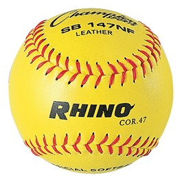 "11"" Optic Yellow Leather Cover Softball"