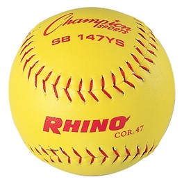 """11\"""" Optic Yellow Synthetic Leather Cover Softball"""