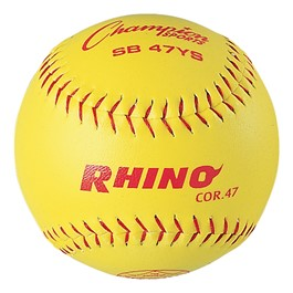 "12"" Optic-Yellow Leather Cover Softball"