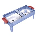 Toddler Double Mite Sensory Table w/ Clear Tubs