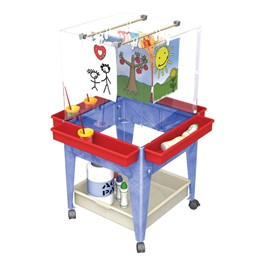 Four-Station Space Saver Easel w/ Storage Tray