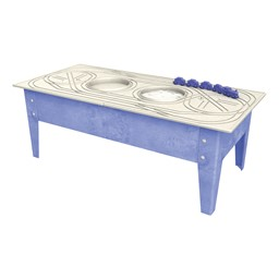"Indoor/Outdoor Train Activity Table w/ Blue Train (18"" H)"