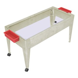 Sand & Water Activity Center w/ Clear Liner & Two Casters