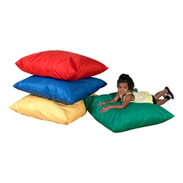 Cozy Primary Floor Pillows - Set of Four