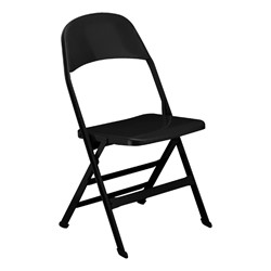 All-Steel Folding Chair - Black