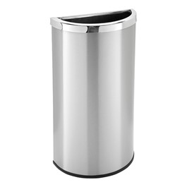 Half-Round Stainless Steel Trash Can