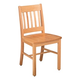 Collegian Vertical Slat Wood Chair - Ecru
