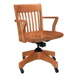 Americana Swivel Arm Bankers Chair