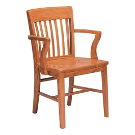Americana Wooden Library Arm Chair
