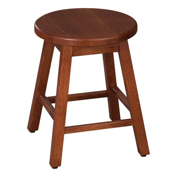 "Bison Wood Stool (18"" H) - Henna"