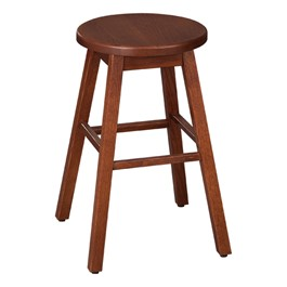"Bison Wood Stool (24 1/4"" H) - Henna"