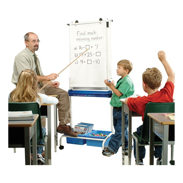 Deluxe Chart Stand in classroom setting